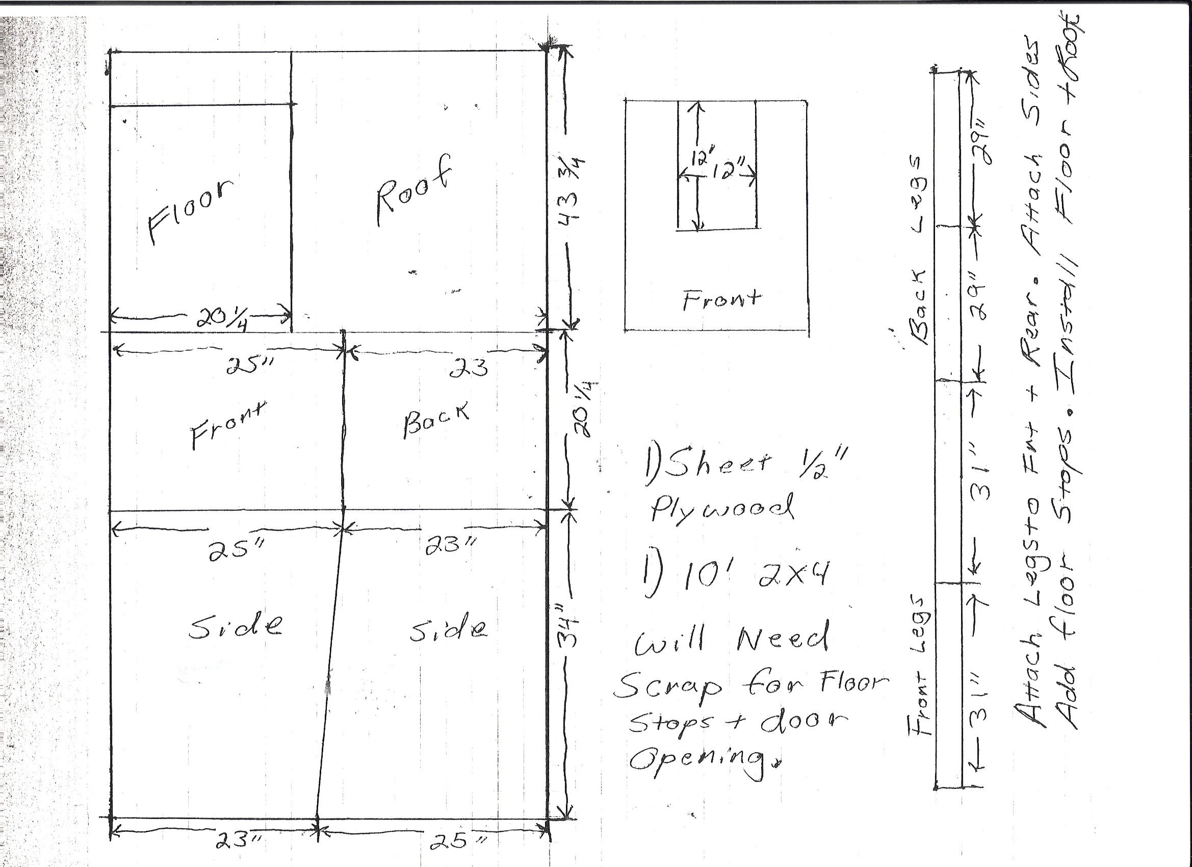 Small dog house plans dog house plans k 9 law enforcement for Dog kennel floor plans